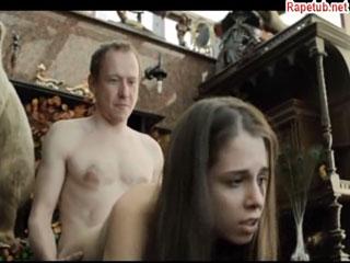 Отчим развращает приемную дочь и она становится шлюхой.
